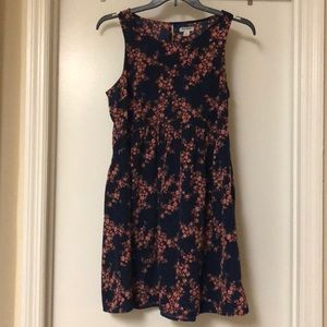 Navy, floral dress — Old Navy